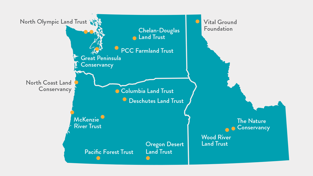 Pacific Northwest Resilient Landscape Initiative's 15 projects across Washington, Idaho and Oregon